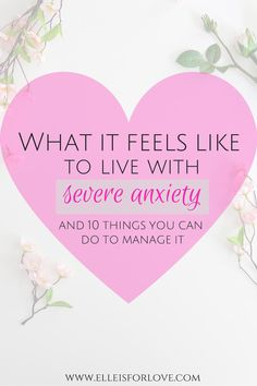 Get a glimpse into what it's like to live anxiety and discover 10 things that you can do to manage anxiety better on a daily basis.
