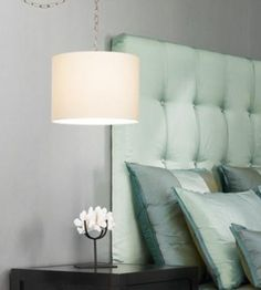 Rental lighting! No hard wiring required. Swag style plug in lamp with round shade that can be made to a custom design! Excellent value for great style tailored to any space...
