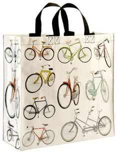 Multi purpose shopper bag with bicycles