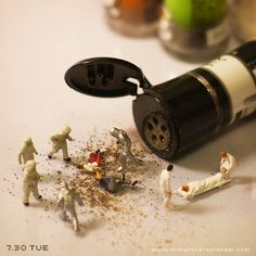"""Black Pepper"" http://miniature-calendar.com/130730/"