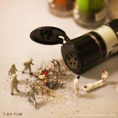 """""""Black Pepper"""" http://miniature-calendar.com/130730/"""