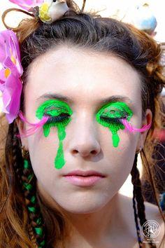 Particolare del viso del Body painting circo