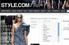 Style.com is a great resource for tracking trends in fashion that could then provide inspiration for store displays.