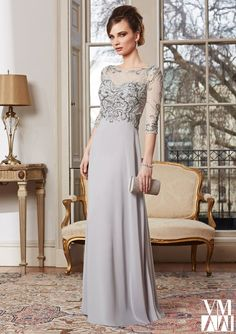 Bolero Evening Dress And Mother Of The Bride Dress From VM By Mori Lee Dress Style 71010 Chiffon/Mesh