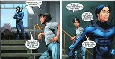 Dick Grayson aka.....the stale fortune cookie  i give you the bat family they have their sassy pants on