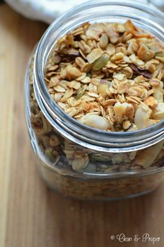 Homemade Gluten-Free Granola #vegan #organic