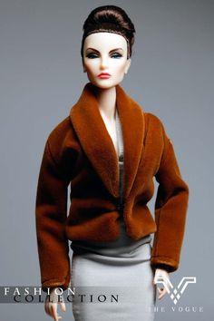 MF1070 Brown Designer Faux-Fur Coat Jacket