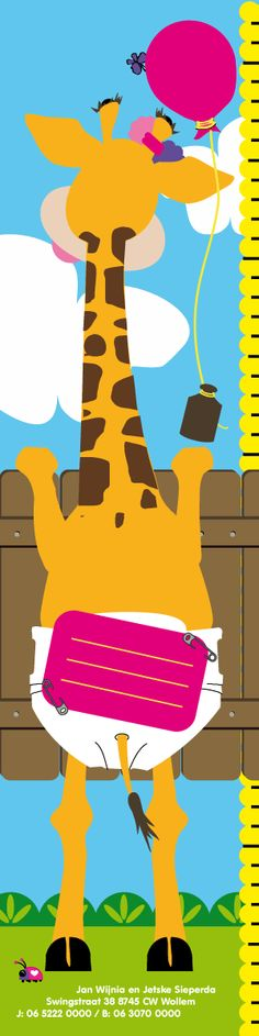 Hallo Giraffe - *eigenwijsneus* geboortekaartjes