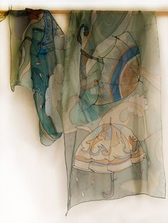 beautiful and transparent painted silk