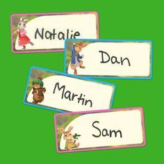 Peter Rabbit Birthday Name Tags