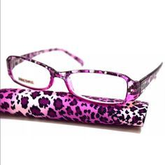 52ab86238fa8 Women s Reading Glasses Animal Print Purple Premium reading glasses are  made with optical quality lenses.