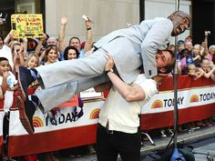 Is that Al Roker being lifted al la Dirty Dancing by Ryan Gosling?