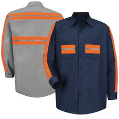 The Red Kap is a garment designed to keep you that much safer on the job while providing a clean-cut style. Constructed with a lighter oz poplin blend of polyester and cotton to ensure strength without lacking on a comfort, combined with a pre Orange Vests, Construction Safety, Landscape Lighting Design, Uniform Design, Work Jackets, Work Shirts, Herschel Heritage Backpack, Cut And Style, Poplin