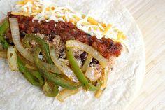 Quinoa Fajita Burritos - with freezer instructions