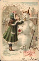 Christmas - Girl with Snowman