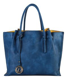 Look what I found on #zulily! Blue Logo Charm Tote #zulilyfinds