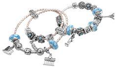 Pandora bracelet blue! My favourite colour &  my birthstone sapphire