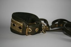 Brocade collar for Whippet