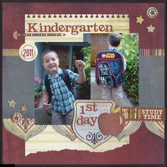 I want to make this for Tyson & Cal - but for every first day of his schooling! :)