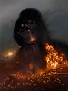 Darth Vader/Padme Artwork /// by Jerry Vanderstelt