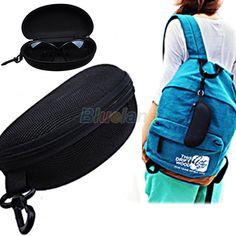 Black Portable Cute Style Hard Zipper Case Box for Glasses Eye Glasses Sunglass Bag Eyewear Accessories