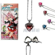Anime Heart Pendant Necklace