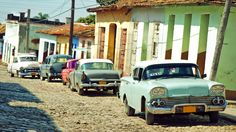 #Cuban #Taxi Drivers at home for a mid afternoon snooze. When these guys are back at work you can get one of these local taxis, usually with other #Cubans doing the same for cents on the #dollar. www.AllAboutCuba.com