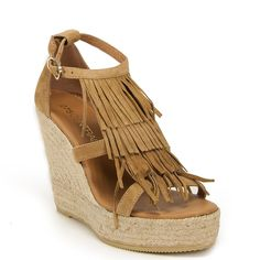 275 Central Women's Fringe Suede Espadrille Wedge -- You can find more details by visiting the image link.