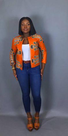 NOUVEAU IN:African vêtement veste imprimé africain