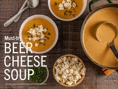 Make it at home: Beer Cheese SoupNow you can make this customer favorite at home! Garnish with popcorn, croutons, minced parsley, chives, minced green onion or crumbled crisp bacon. 6...