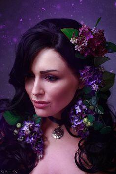 The Witcher - Flower portraits - Yennefer by MilliganVick.deviantart.com on @DeviantArt