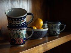 Polish Pottery Large Mugs