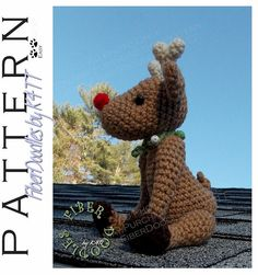~ Crocheted with materials listed, models which have been produced are approximately 8.5 inches tall. However, depending on your crochet style, this measurement may/will vary. ~