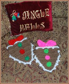 Christmas Gingerbread Dog Bandanna Crochet Pattern By Sara Sach of Posh Pooch Designs Rosie and . Crochet Dog Clothes, Crochet Dog Sweater, Pet Clothes, Dog Clothing, Crochet Dog Patterns, Christmas Crochet Patterns, Holiday Crochet, Crochet Designs, Christmas Gingerbread