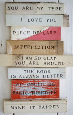 text your loved ones by wood & wool stool, via Flickr
