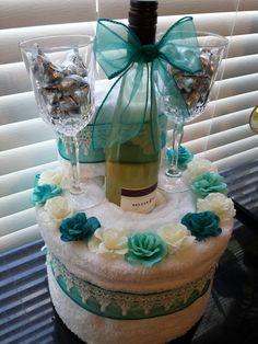 Towel cake for wedding. Springshowercakes on fb