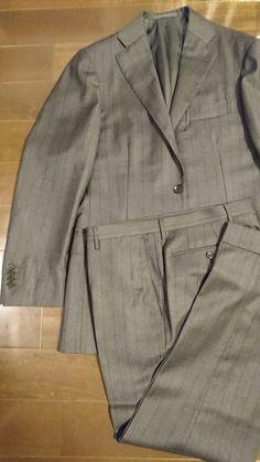 #RingJacket RT026F71B Charcoal Gray Shadow Stripe Jacket No.184, Pants S168 Size46 #LoroPiana #Super130's 140,000JPY+tax
