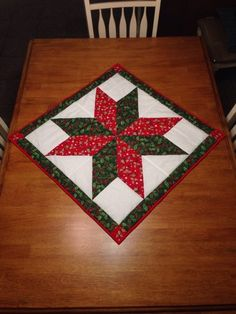 Quilted Christmas table topper