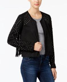 WILLIAM RAST Hazel Studded Fringe Jacket | macys.com