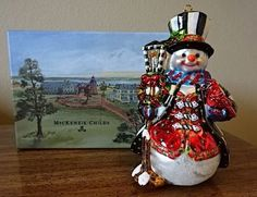 NIB-MacKenzie-Childs-JOLLY-SNOWMAN-Glass-Ornament-Made-in-Poland