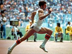 Alberto Juantorena (Cuba). Famed for his nine foot stride length. At the 1976 Summer Olympics, he became the first athlete to win both the 400 and 800 m Olympic titles