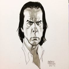 Andrew Robinson Nick Cave Head Sketch
