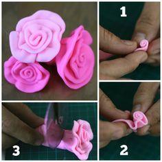 Tutorial fácil para hacer rosas con fondant para el cumpleaños de Princesa Aurora!