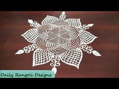 easy geethala muggulu designs with dots(dhanurmasam muggulu) simple kolam designs Indian Rangoli, Kolam Rangoli, Flower Rangoli, Rangoli Designs With Dots, Beautiful Rangoli Designs, Kolam Designs, Alpona Design, Latest Rangoli, Padi Kolam