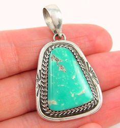 GARRISON-BOYD-Navajo-Handmade-Solid-925-Sterling-Silver-Turquoise-Pendant-J-R