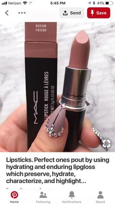 mac makeup looks james Lipstick Shades, Lipstick Colors, Lip Colors, Skin Makeup, Makeup Lipstick, Maybelline Lipstick, Mac Lipsticks, All Things Beauty, Beauty Make Up