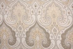 6.1 Yards Kravet Latika Printed Linen Drapery Fabric in Limestone