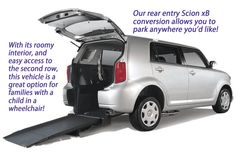 The REAR-entry version of the Scion xB, XS-able Wheelchair Car Conversion | Freedom Motors. >>> See it. Believe it. Do it. Watch thousands of SCI videos at SPINALpedia.com