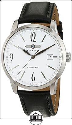 Zeppelin Flatline 7350-1 - Reloj de caballero automático, correa de piel color marrón de  ✿ Relojes para hombre - (Gama media/alta) ✿