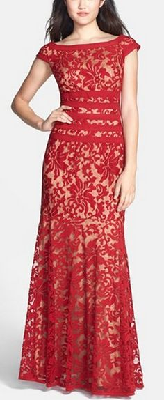 Gorgeous lace dress - comes in red & black http://rstyle.me/n/t44wan2bn